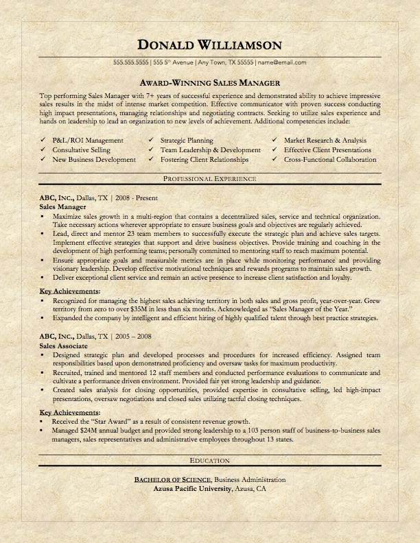 Cover letter on resume paper