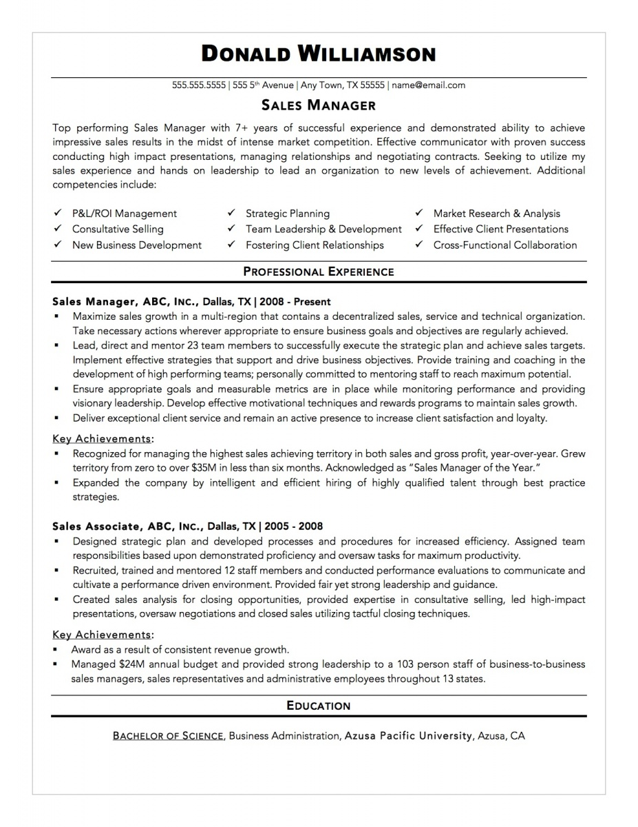 sample resume format ready to edit