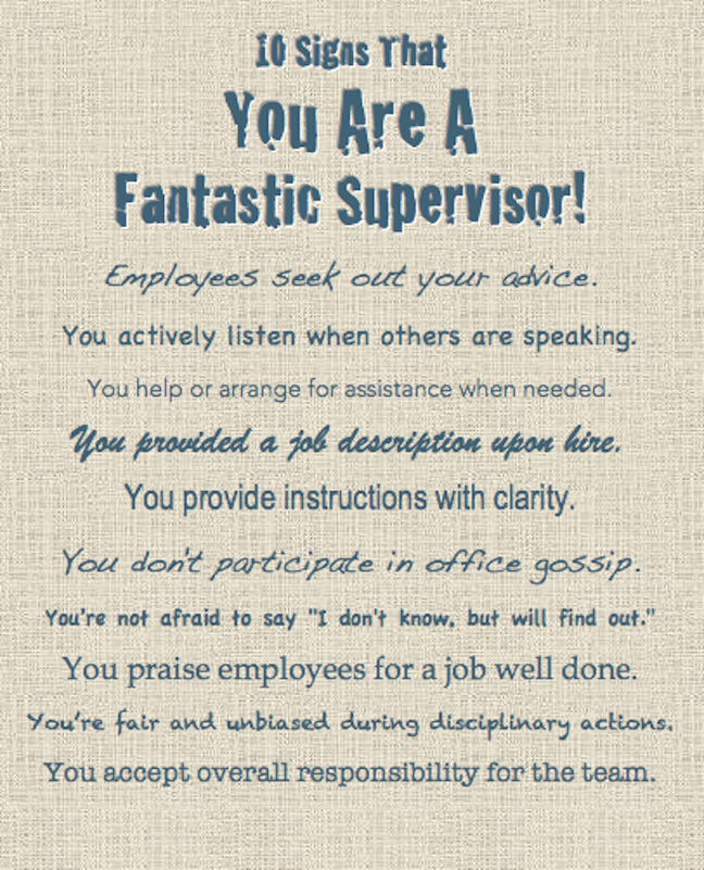 How To Be A Fantastic Supervisor